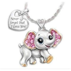 New Never forget that I love you elephant pendant